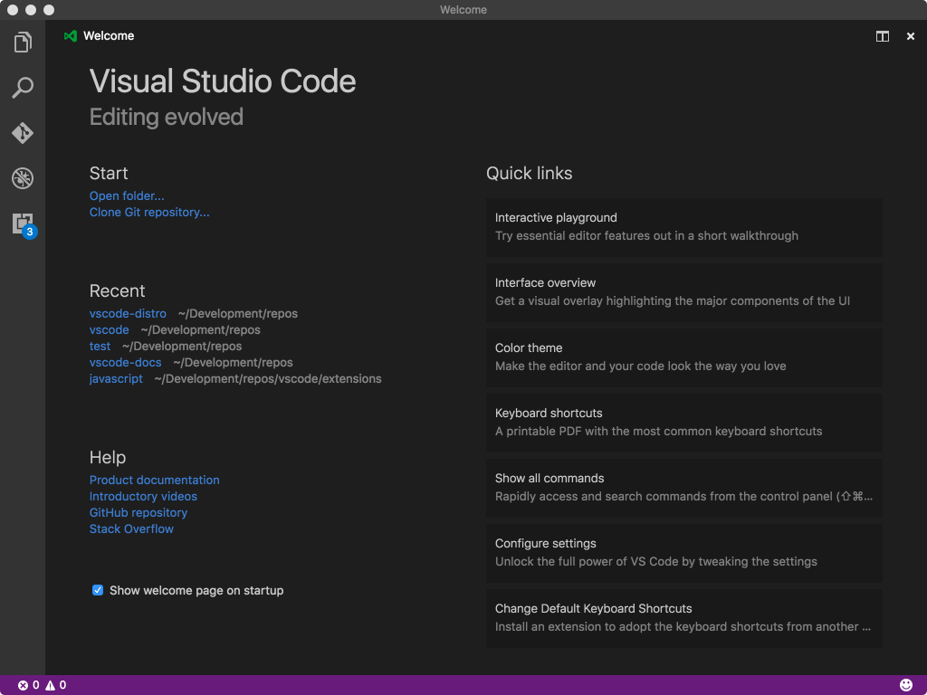 Visual Studio 1.9.0