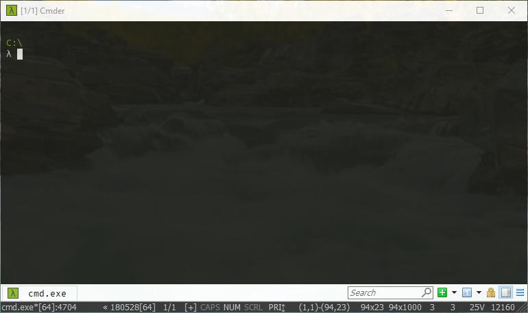 Cmder-Windows免费的开源的终端管理工具